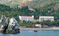 Surroundings of Alushta - a sanatorium Utes and Karasan-1
